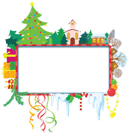 Cute Christmas frame Stock Vector - 16146187
