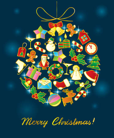 coronas de navidad: De fondo de Navidad Vectores