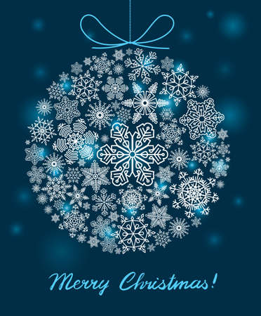 Vector background with Christmas ball Vector