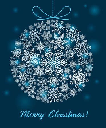 christmas ball: Vector background with Christmas ball Illustration