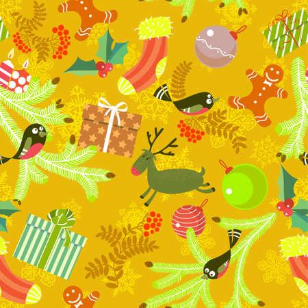 gingerbreadman: Cute Christmas seamless background