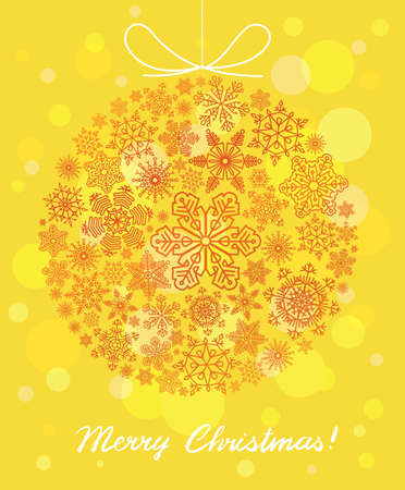 Vector background with Christmas ball Stock Vector - 16146219