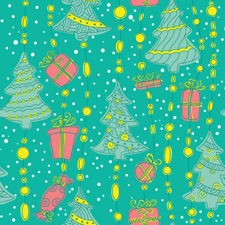 Cute Christmas seamless pattern background Stock Vector - 16146189
