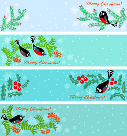 Cute Christmas banners set Vector