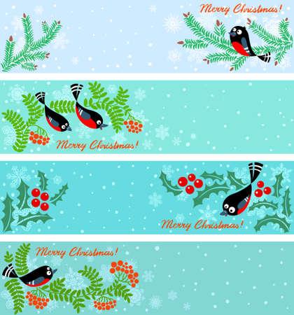 Cute Christmas banners set Stock Vector - 16146235