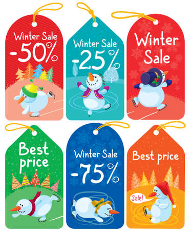 Cute Christmas tags set Stock Vector - 16258798