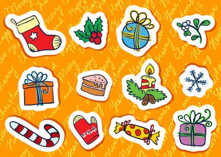 Christmas tags set Stock Vector - 16407044