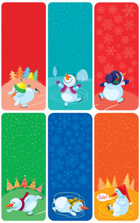 Cute Christmas banners set Stock Vector - 16407048