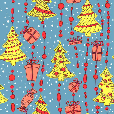 Cute Christmas seamless pattern background Stock Vector - 16463846