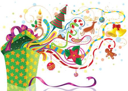 Christmas shopping illustration Stock Vector - 16463848