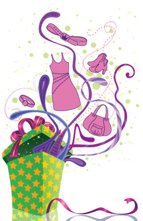 Shopping isolated vector illustration Stock Vector - 16463845
