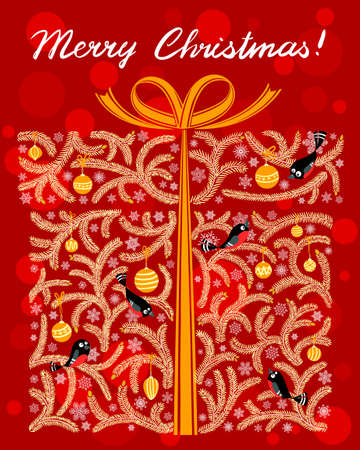 Cute shape of Christmas gift box Stock Vector - 16603813