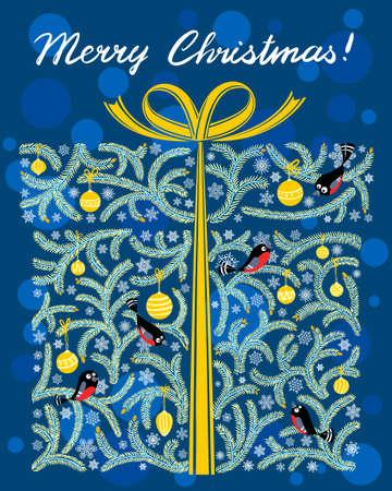 Cute shape of Christmas gift box Stock Vector - 16799078