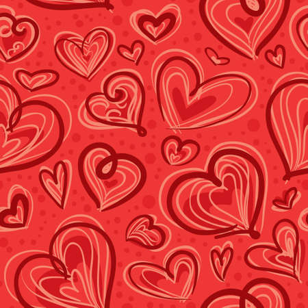 Cute valentine's seamless pattern with hearts Stock Vector - 17247885