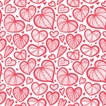 Cute valentine's seamless pattern with hearts Stock Vector - 17247880