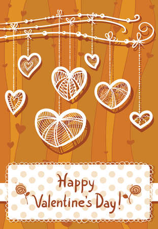 Valentine's Day background Vector