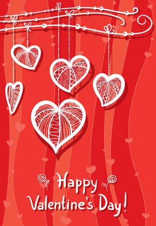 Red Valentine's Day Card Stock Vector - 17247874