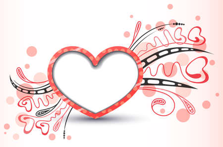 Valentine's day cute red background Stock Vector - 17247877