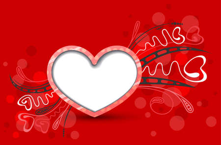 Valentine's day cute red background Stock Vector - 17247875