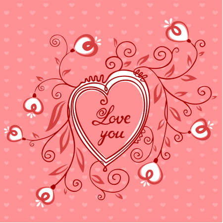 Valentines Day Cute Card Vector
