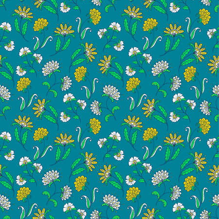 Abstract floral seamless pattern Stock Vector - 17917991