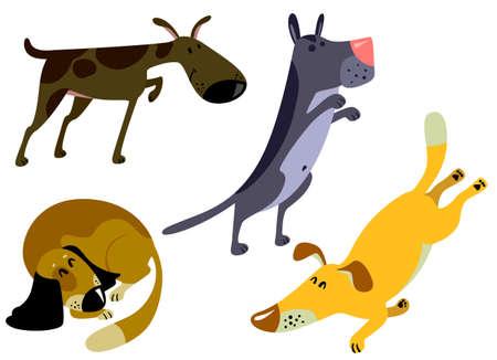 cute dog: Cute dogs set.