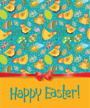 Happy Easter greeting card Vector