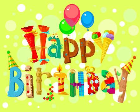 birthday backdrop: Happy Birthday card