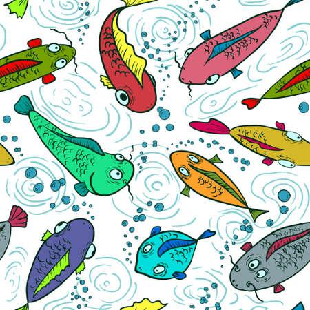bunter fisch: Bunte Fische nahtlose Hintergrund