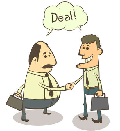 Business partners handshake (color version) Vector