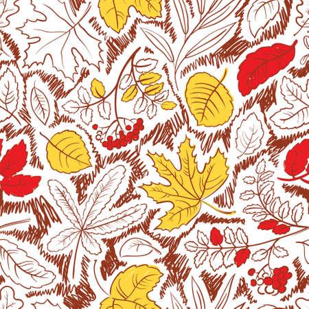 Autumn season seamless with leaves Stock Vector - 21060206