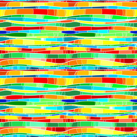 Abstract rainbow seamless pattern Vector