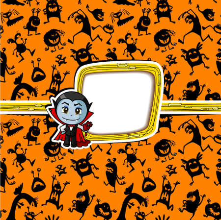 Halloween greeting card with vampire Vector