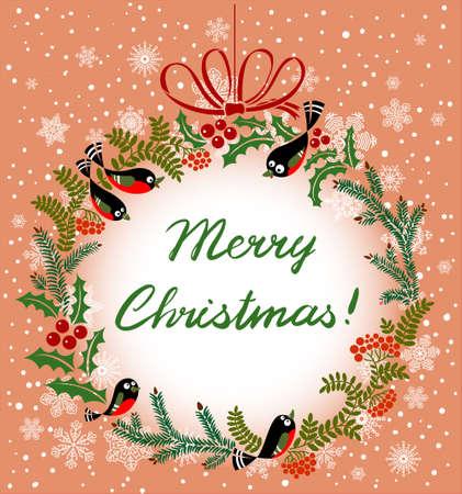 imagen: Corona de Navidad linda con las aves