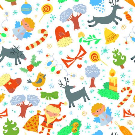 christmas seamless pattern: Cute Christmas seamless pattern
