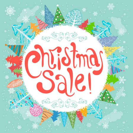 Christmas Sale lettering poster