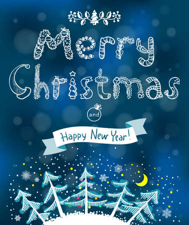 new year poster: Greeting Christmas and New Year poster