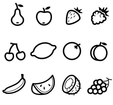 coco: Set with Food Icons (Fruits)