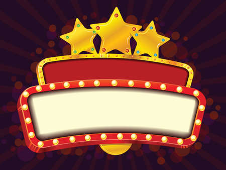 Bannière cinéma d'or Banque d'images - 26378910