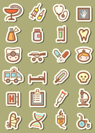 Set with medical tag icons Vector