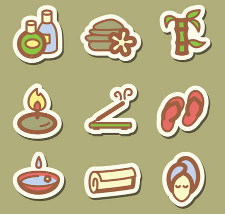 Minimalistic SPA icons set Vector