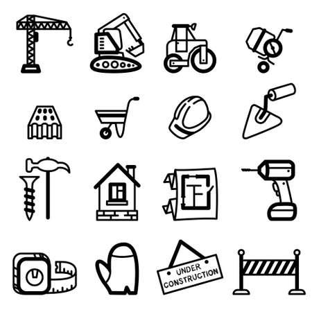 Building (construction) icons set