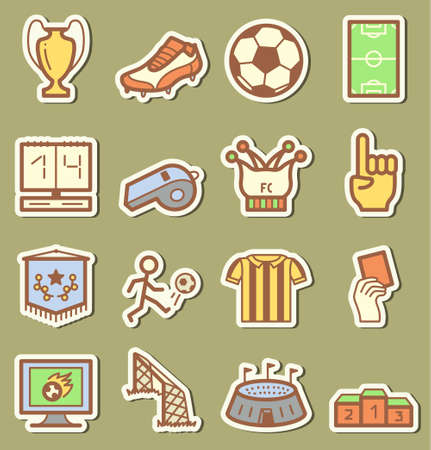 Socker icons set Vector