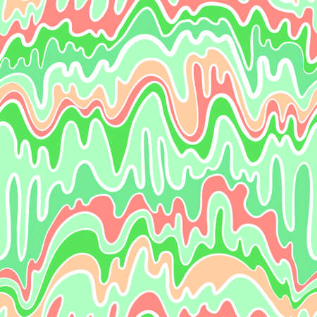 Abstract line seamless pattern with waves