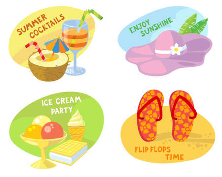 sweet stuff: Tags with summer cute objects