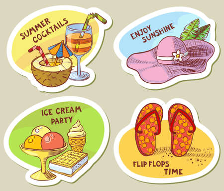 sweet stuff: Stickers with summer cute objects