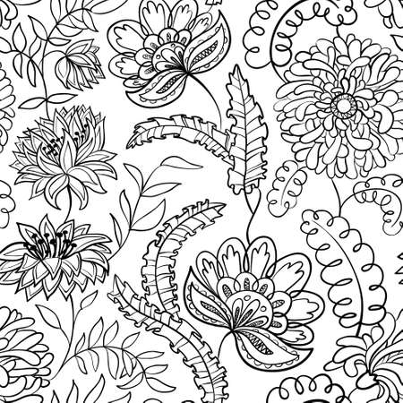 Cute abstract floral seamless pattern Vector