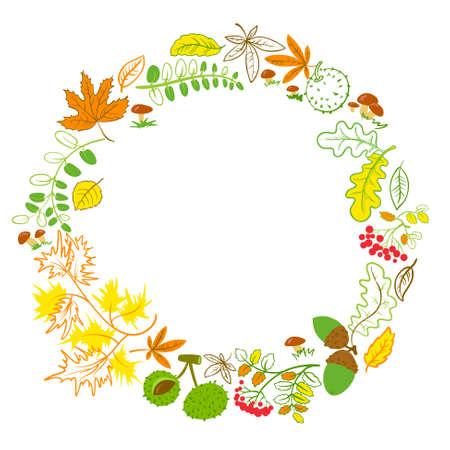 oak wreath: Fall season floral wreath