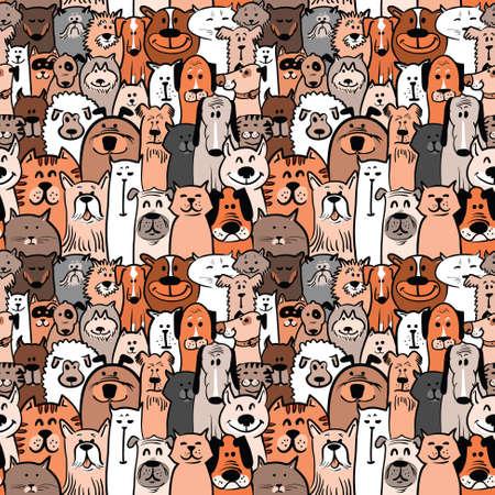 gato dibujo: perros y gatos garabato sin patr�n