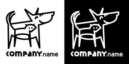 Icône d'identité avec le chien et le chat Banque d'images - 30739966